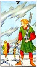 5 мечей колода Райдера Уэйта Pyaterka-mechei